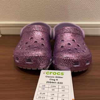 クロックス(crocs)のクロックス キッズ サンダル ラメ 14センチ(サンダル)