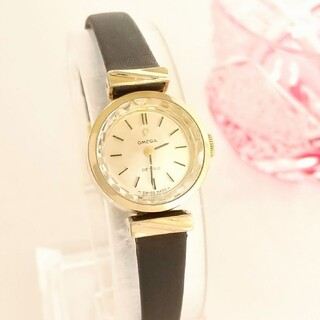OMEGA - ⭐OH済 綺麗 オメガ 新品レザー ベルト レディース 腕時計 着物 ギリ美品