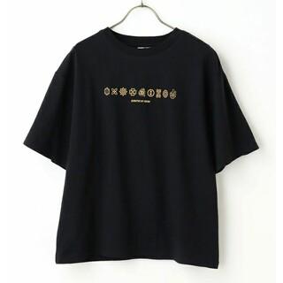 ハニーズ(HONEYS)の 半袖Tシャツ「鬼滅の刃」  ブラック Lサイズ(Tシャツ(半袖/袖なし))