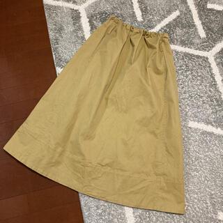ケービーエフプラス(KBF+)のKBF+ コットンツイルリボンスカート(ひざ丈スカート)