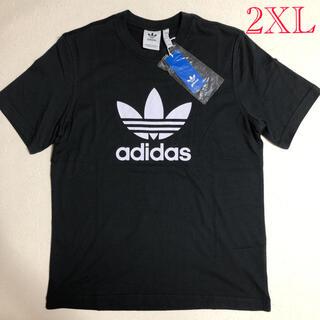 アディダス(adidas)の新品!アディダスオリジナルス メンズTシャツ ブラック 2XLサイズ(Tシャツ/カットソー(半袖/袖なし))