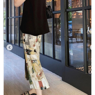 Ameri VINTAGE - Original pattern long skirt