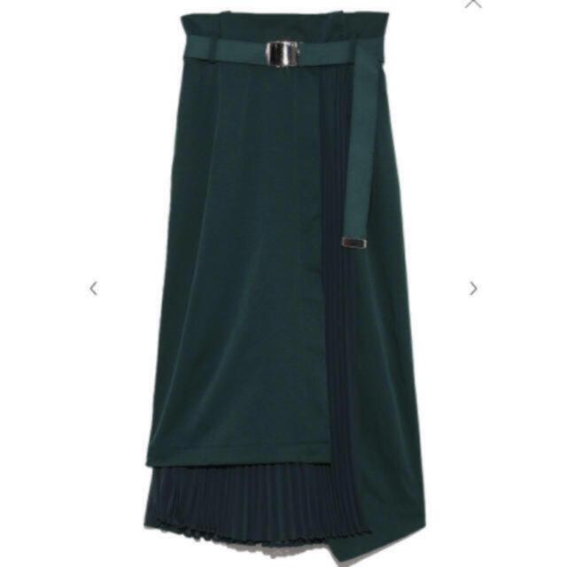 FRAY I.D(フレイアイディー)のFRAY I.D/プリーツコンビタイトスカート レディースのスカート(ひざ丈スカート)の商品写真