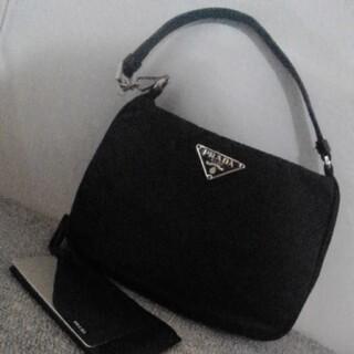 プラダ(PRADA)のPRADA プラダ 三角ロゴ プレート ナイロン アクセサリーポーチ ミニバック(ハンドバッグ)