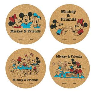 ディズニー(Disney)のレトロミッキー コースター(テーブル用品)