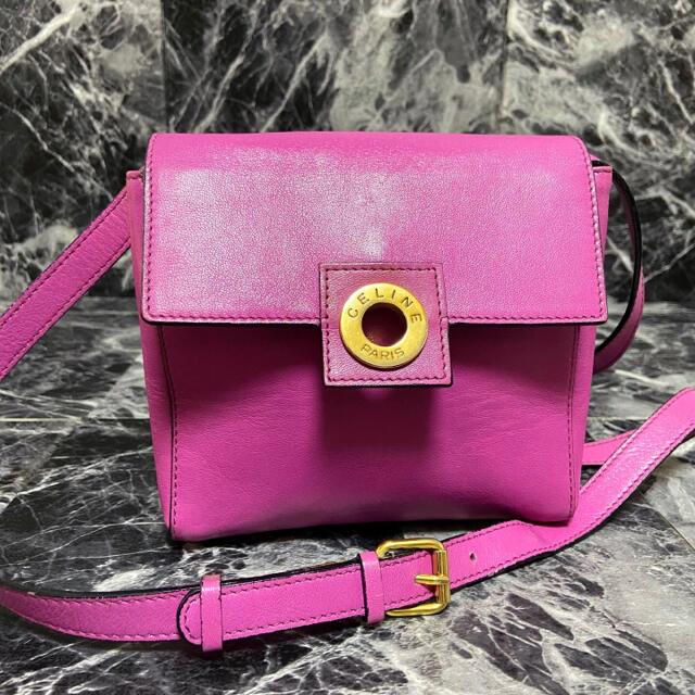celine(セリーヌ)の【激レア】CELINEセリーヌ サークルロゴ ミニポシェット ショルダーバッグ レディースのバッグ(ショルダーバッグ)の商品写真