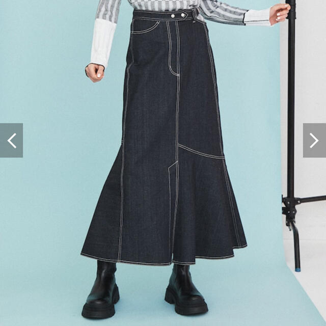 inella アシメデニムスカート レディースのスカート(ロングスカート)の商品写真