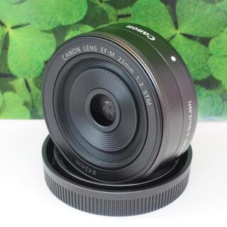 キヤノン(Canon)の【美品】キャノンCanon EF-M22mm F2 STM⭐️背景ぼかし神レンズ(レンズ(単焦点))