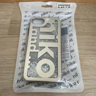 ニコアンド(niko and...)のniko and…ニコアンドロゴグリッターiPhoneケース新品未使用(iPhoneケース)
