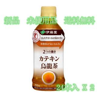 2つの働き カテキン烏龍茶 PET350ml 24本入 X 2(茶)