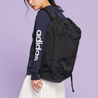 アディダス(adidas)の新品タグ付き adidasアディダス  バックパック リュック25L ブラック黒(リュック/バックパック)
