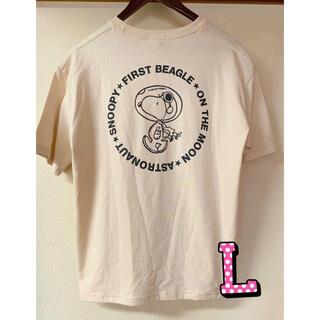 ピーナッツ(PEANUTS)の新品 スヌーピー ウッドストック Tシャツ  半袖 レディース Lサイズ(Tシャツ(半袖/袖なし))