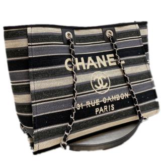 シャネル(CHANEL)のCHANELキャンバスビーチバッグ#13(トイレ収納)
