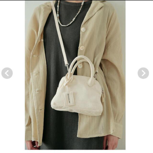 SeaRoomlynn(シールームリン)のsearoomlynn完売キャンバスラウンドミニバッグ 新品 レディースのバッグ(ショルダーバッグ)の商品写真