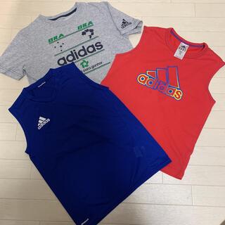 アディダス(adidas)の【古着 良品】 adidas Tシャツ タンクトップ 150cm 3枚セット(Tシャツ/カットソー)