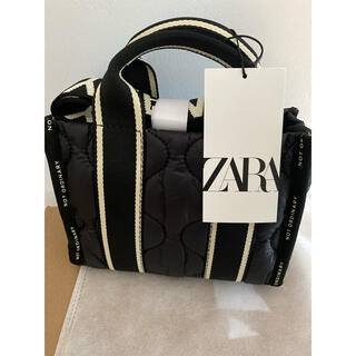 ZARA - 【ZARA】ナイロンミニトート 新品タグ付