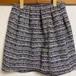 スピックアンドスパン(Spick and Span)のスカート ツイード(ミニスカート)