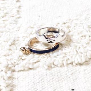 猫リング★新品★青(リング(指輪))
