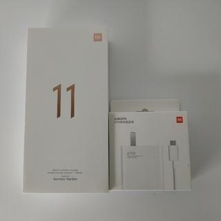 ANDROID - 超美品 グロROM化済み Xiaomi mi11 8GB 256MB 黒