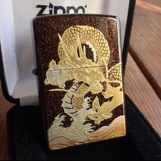 ジッポー(ZIPPO)の新品 Zippo 龍 梨地 本金蒔絵 和柄 ジッポー(タバコグッズ)