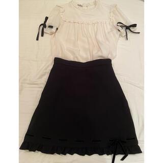 miumiu - miumiu シルクブラウススカートセット 38サイズ