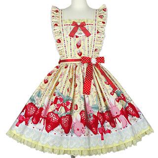 Angelic Pretty - 新品 Little Bunny Strawberry スカート イエロー