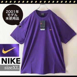 NIKE - 超レア未使用品★NIKE★刺繍スウッシュTシャツ★2001モデル★サイズXL