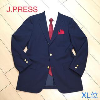 ジェイプレス(J.PRESS)の極美品★ジェイプレス『紺ブレザー』高級ネイビージャケット 背抜き 金釦 A967(テーラードジャケット)