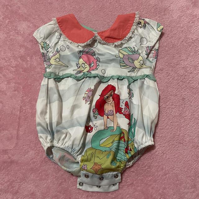 Disney(ディズニー)のアリエル ロンパース 80cm キッズ/ベビー/マタニティのベビー服(~85cm)(ロンパース)の商品写真