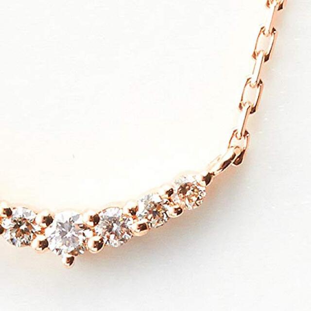 agete(アガット)のageteアガットWEB限定K10ピンクゴールドダイヤモンドネックレス レディースのアクセサリー(ネックレス)の商品写真