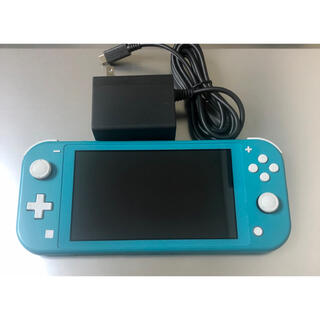ニンテンドースイッチ(Nintendo Switch)の 任天堂 Nintendo Switch Lite ターコイズ 本体 + 充電器(家庭用ゲーム機本体)