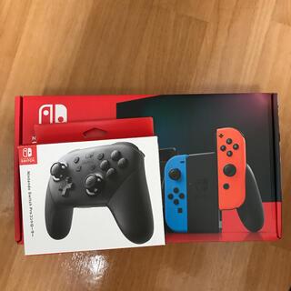 ニンテンドースイッチ(Nintendo Switch)のNintendo Switch ネオンブル 、PROコントローラー(家庭用ゲーム機本体)