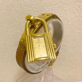 Hermes - HERMES ケリーウォッチ 腕時計 レディース  茶色 ゴールド エルメス本物