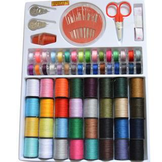 ソーイングセット 上糸 下糸 ミシン糸 ボビン糸 32色 裁縫セット 手芸 (生地/糸)