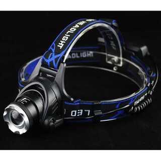 LEDヘッドランプ USB充電式 高輝度【015】(ライト/ランタン)