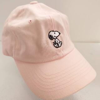 ピーナッツ(PEANUTS)のpeanuts スヌーピー スナップバックキャップ ピンク(キャップ)