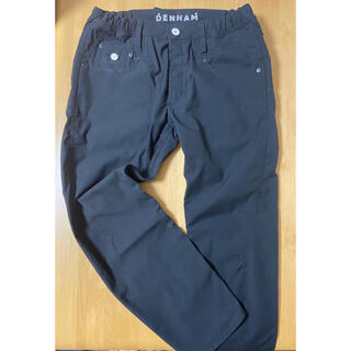 DENHAM - デンハム クロスバック メンズ 細め ブラック パンツ 大きいサイズ