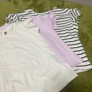 anyFAM - フリル袖 Tシャツ 3枚セット 140センチ