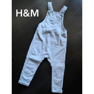 エイチアンドエム(H&M)のH&M【1回使用】オーバーオール サロペット 92cm(パンツ/スパッツ)