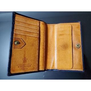 エッティンガー(ETTINGER)のエッティンガー2つ折り財布(ネイビー)(折り財布)