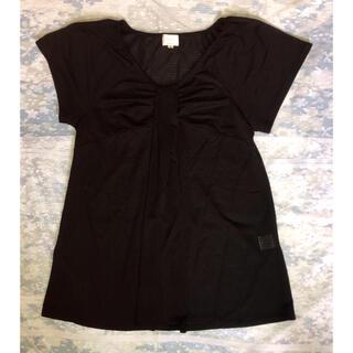 エマジェイム(EMMAJAMES)の☆EMMA JAMES☆デザインブラウス(ブラック)(シャツ/ブラウス(半袖/袖なし))