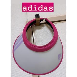 アディダス(adidas)のadidas サンバイザー アディダス ピンク(その他)