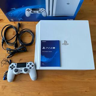 PlayStation4 - 【美品】PlayStation4 Pro 本体箱付き グレイシャーホワイト