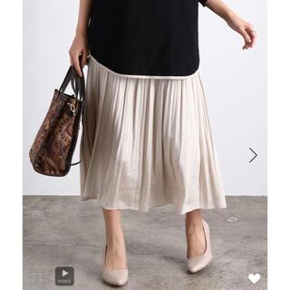 ViS - ViS 細プリーツスカート 新品同様 キナリ サテン ロングスカート