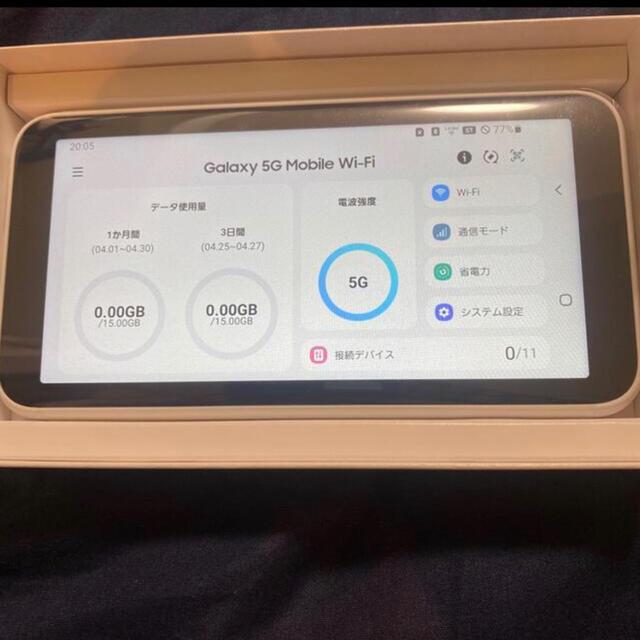 Galaxy5G Mobile Wi-Fi SCR01 ポケット 【最安値】 スマホ/家電/カメラのスマートフォン/携帯電話(その他)の商品写真