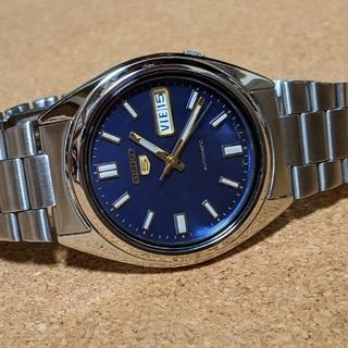 セイコー(SEIKO)のセイコー5 ブルー 自動巻 SNX799K 7s26 2003年製造 美品です(腕時計(アナログ))