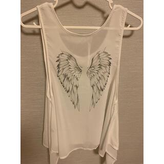 背中に羽 (Tシャツ(半袖/袖なし))