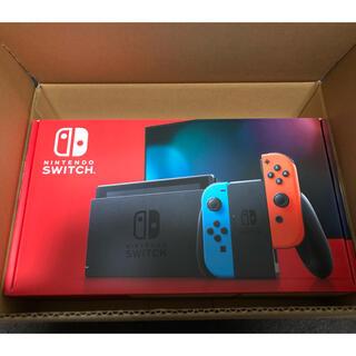 ニンテンドースイッチ(Nintendo Switch)の【新品未開封】 Nintendo switch 本体 ネオン (家庭用ゲーム機本体)