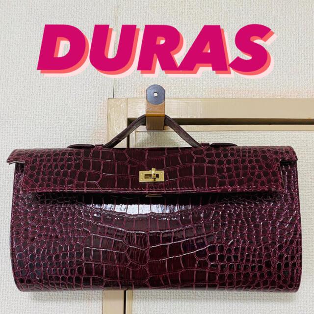 DURAS(デュラス)のDURAS クロコ型押しクラッチバッグ デュラス レディースのバッグ(クラッチバッグ)の商品写真
