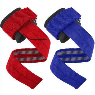 新品 リストストラップ 赤 青 黒 懸垂 チンニング デッドリフト 握力補助(トレーニング用品)